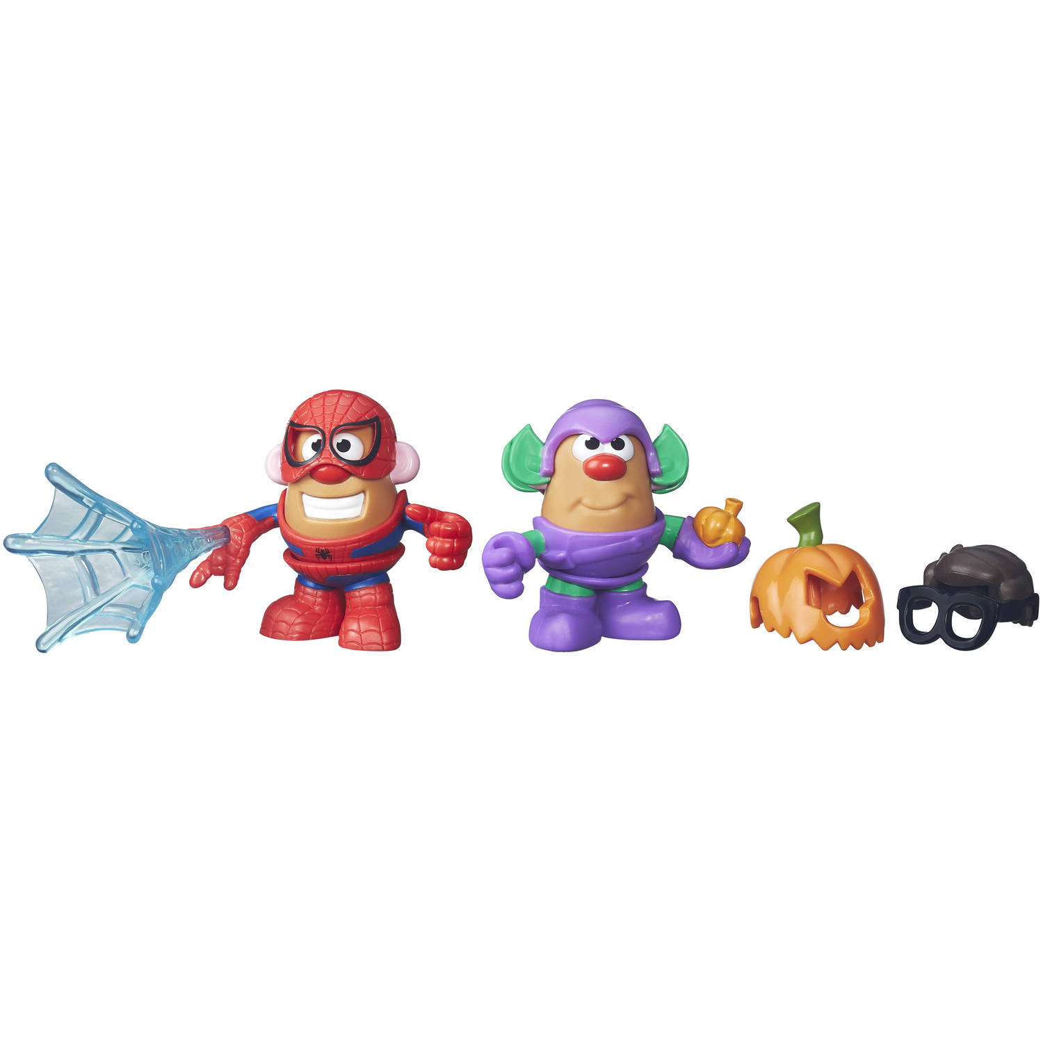 Playskool Friends Mr. Potato Head Marvel Spider-Man & Green Goblin Toys 11 pc Carded Pack by Hasbro