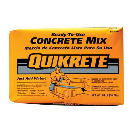 Concrete Mix Design - Quikrete  Ready-to-Use Concrete Mix  80 lb.