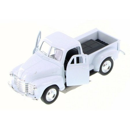 Chevy 3100 Pick Up Truck, White - Welly 43708D - 1/34 Scale Diecast Model Toy Car (Brand New but NO