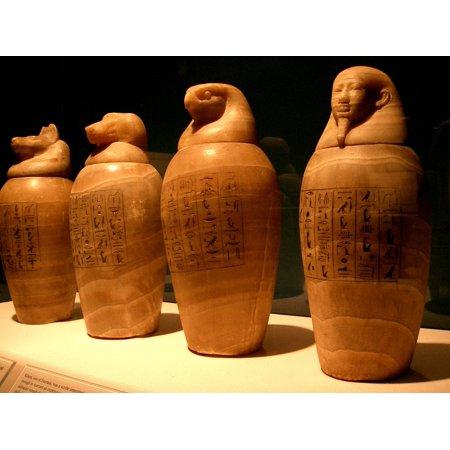 LAMINATED POSTER Pharaoh Mummy Egypt Embalm Canopic Jars Egyptian Poster Print 11 x 17