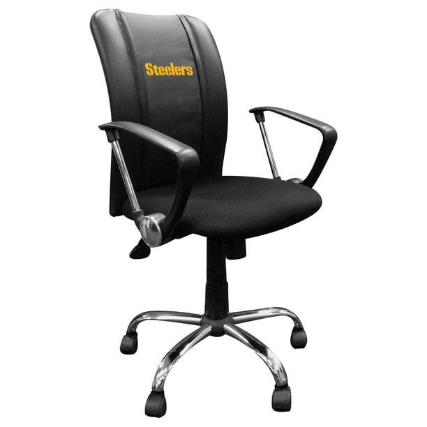 Pittsburgh Steelers Curve Task Office Chair Walmart Com Walmart Com