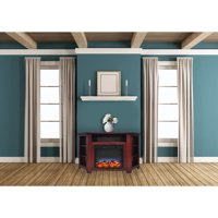 """Cambridge Stratford 56"""" Electric Corner Fireplace Heater with LED Multi-Color LED Flame Display"""