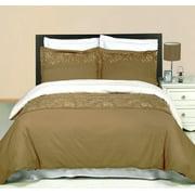 Luxury Soft 100% Cotton 3 Piece Duvet Cover Set Embroidered - King/California King - Geneva