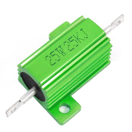 Ohm 25 Watt Wirewound Resistor - Unique Bargains 25W 25 Watt 25000 Ohm Green Aluminum Clad Wirewound Resistor