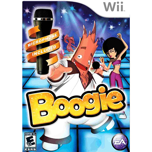 boogie with microphone - nintendo wii (bundle)