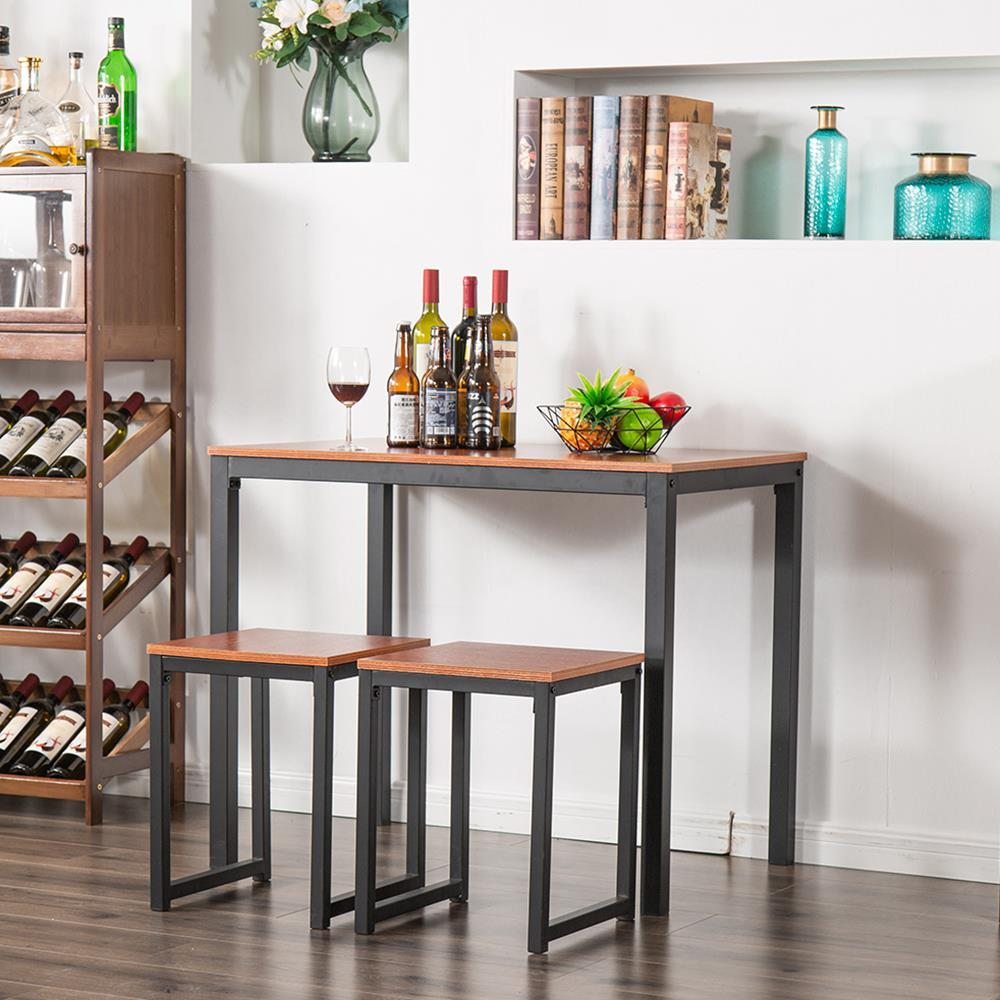 ubesgoo 3 piece dining table set for small spaces kitchen