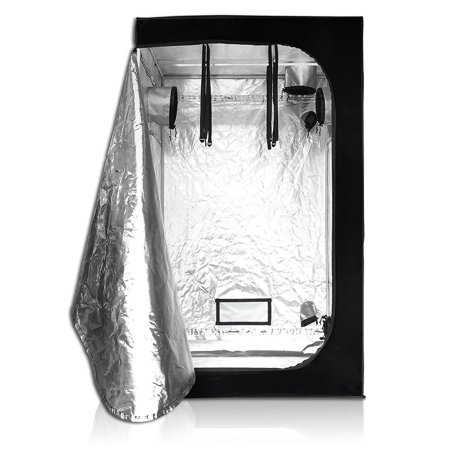 LAGarden 4x4x6.5Ft 100% Reflective Diamond Mylar Hydroponics Indoor Grow Tent Planting Room (The Grow Room)