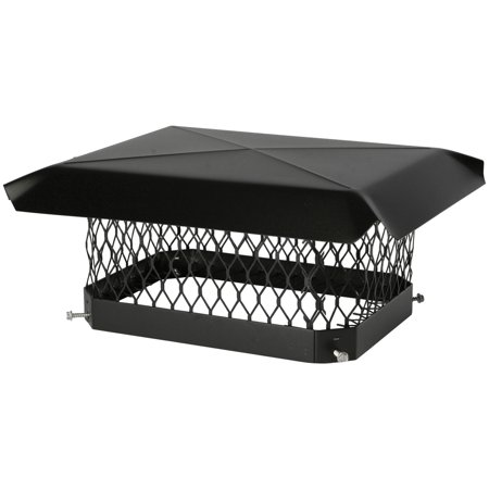 "Shelter SC1318 Single-Flue Black Galvanized-Steel Chimney Cap (13"" x 18"")"