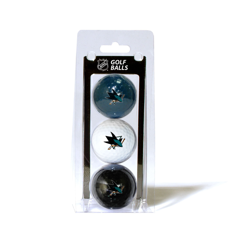 San Jose Sharks Official NHL 3 Ball Set by Team Golf 15305