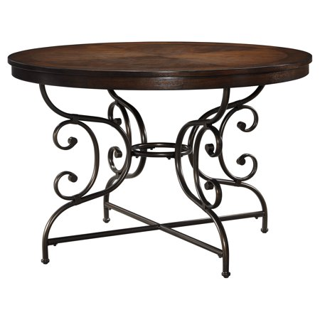 Ashley Brulind Round Dining Room Table In Brown D