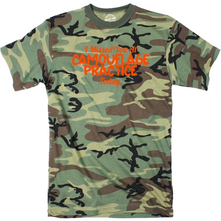 Snow Camo Shorts - Mens Missed You At Camouflage Practice Funny Hunting Hiding Sarcastic T shirt