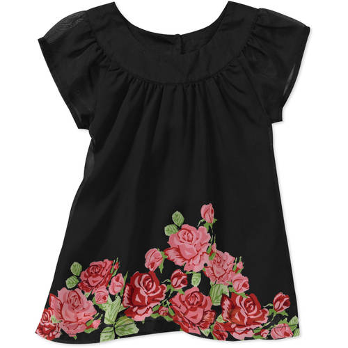 George Newborn Girls' Floral Chiffon Print Dress
