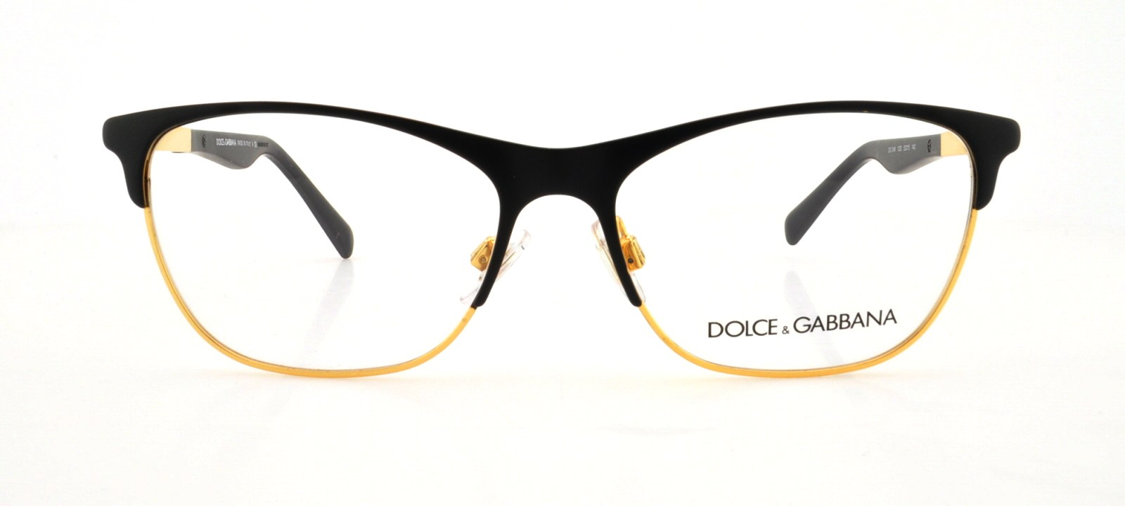 bbcc361b1d5 DOLCE   GABBANA Eyeglasses DG 1246 1220 Matte Black Gold 53MM - Walmart.com