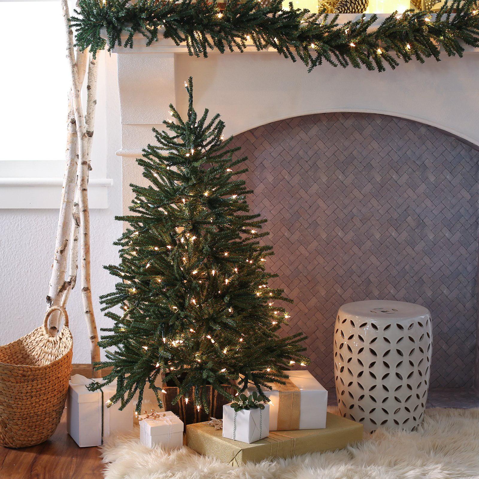 Finley Home 4 ft. Delicate Pine Slim Pre-Lit Christmas ...