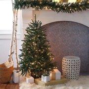 Finley Home 4 ft. Delicate Pine Slim Pre-Lit Christmas Tree