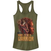 Marvel Juniors' Black Panther 2018 Nakia Warrior Racerback Tank Top
