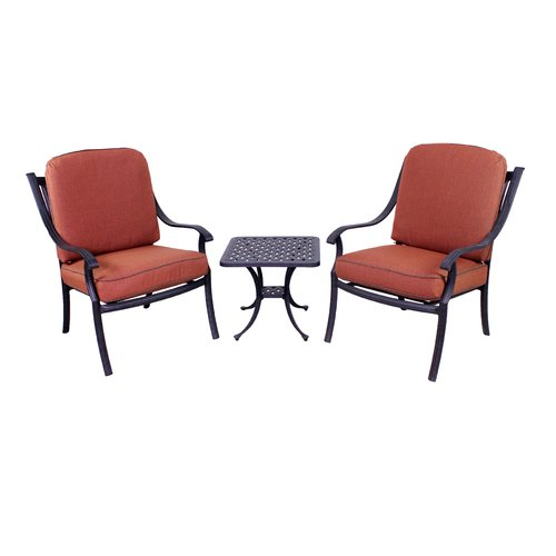 Fleur De Lis Living Sunderland 3 Piece Seating Group with Sunbrella Cushions