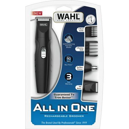 Wahl Travel 10-Piece Clipper Beard Mustache Trimmer Kit - Dual Volt/Worldwide Use