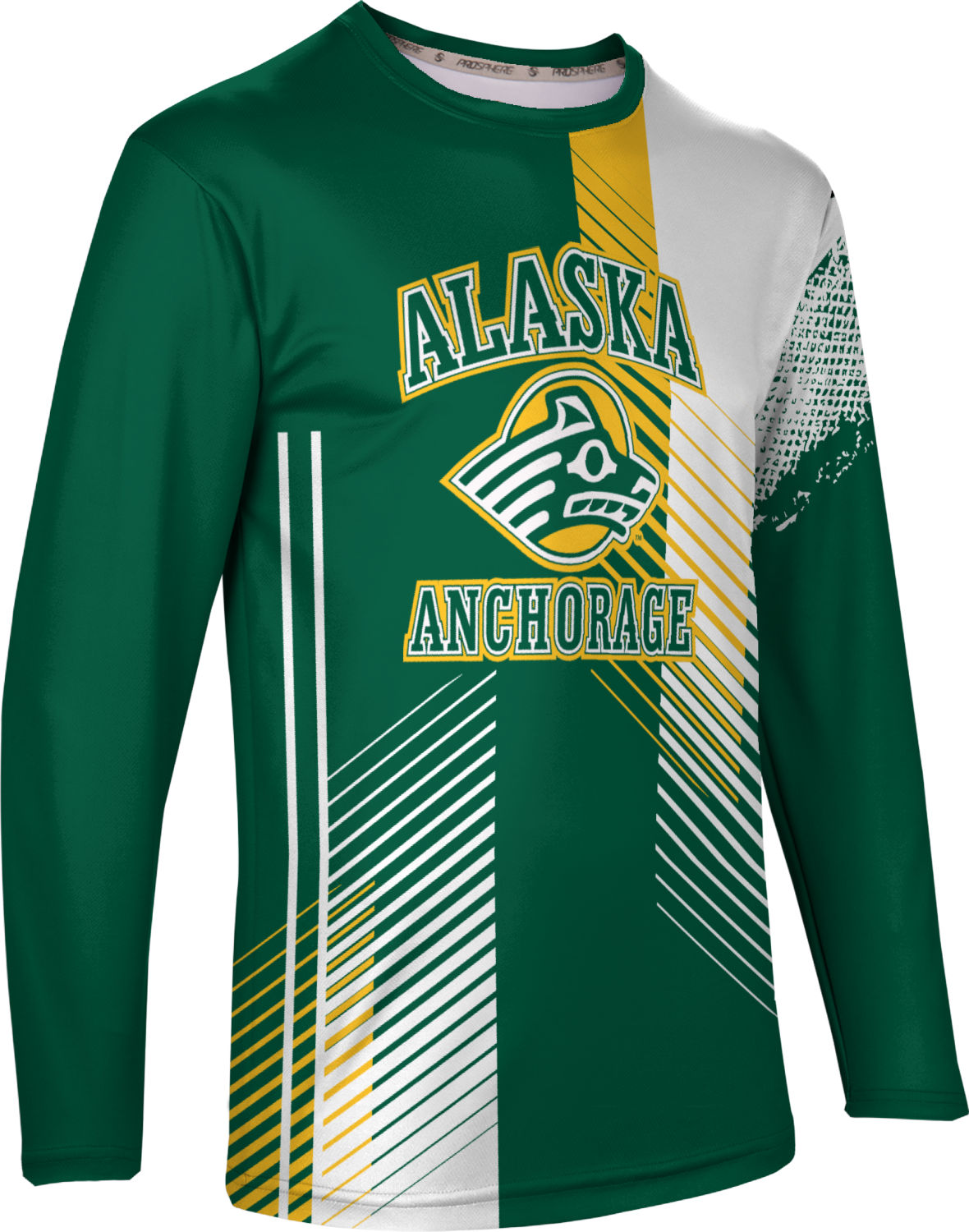 Hustle ProSphere University of Alaska Anchorage Mens Long Sleeve Tee