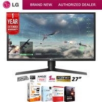 LG 27GK750FB 27-inch Full HD Gaming Monitor 1920 x 1080 16:9 Bundle with Elite Suite 18 Standard Editing Software Bundle and 1 Year Extended Warranty
