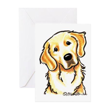 CafePress - Golden Retriever Portrait - Greeting Card, Blank Inside Glossy Golden Retriever Note Cards