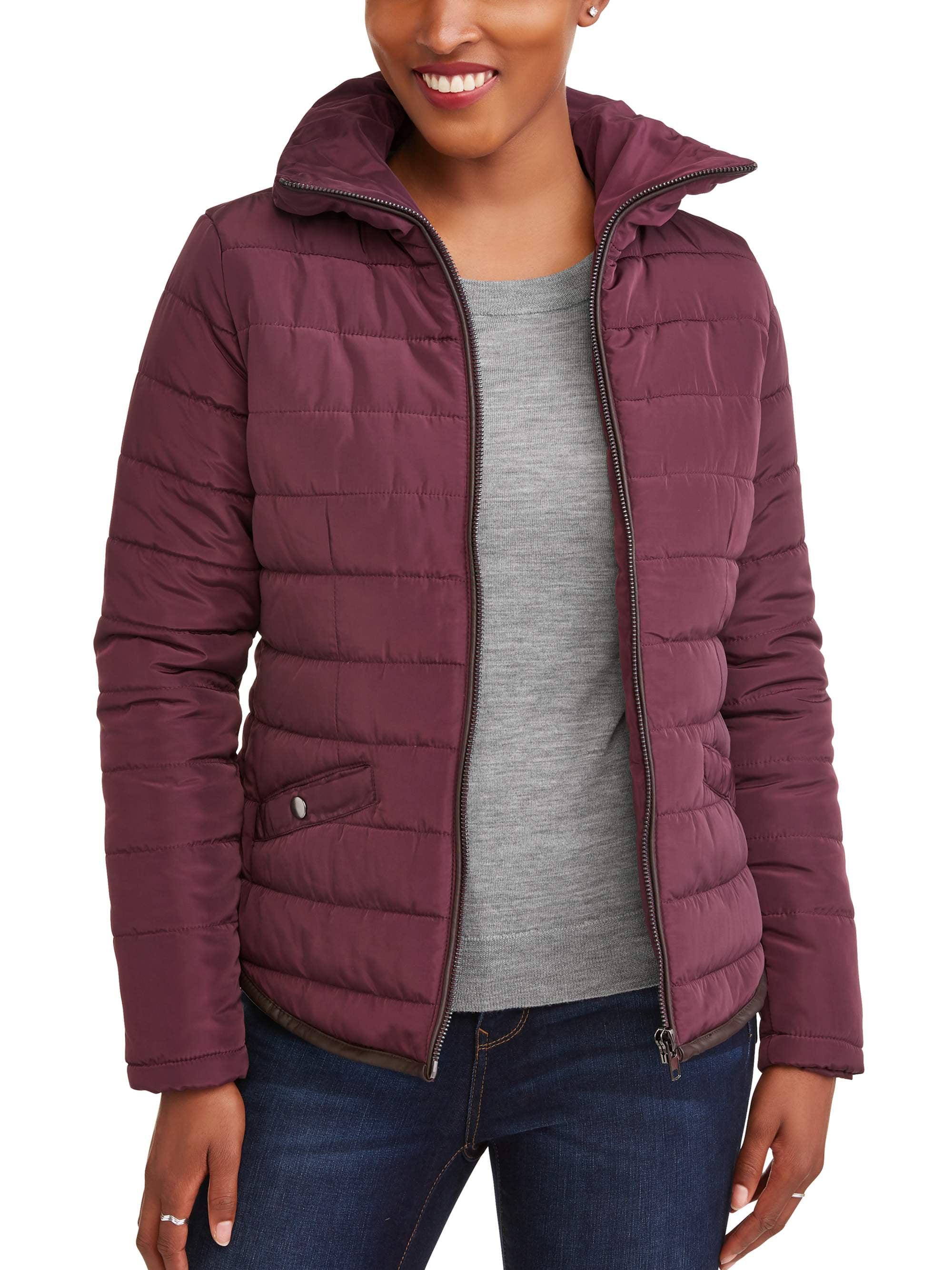Jason Maxwell Womens Outerwear Womens Cropped Puffer Jacket Down Alternative Coat Coats & Jackets