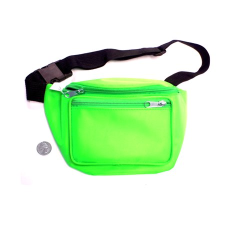 06681add2ed5 Neon Green Fanny Pack Bag Rave Club Bum Festival 2 Pocket Adjustable Strap