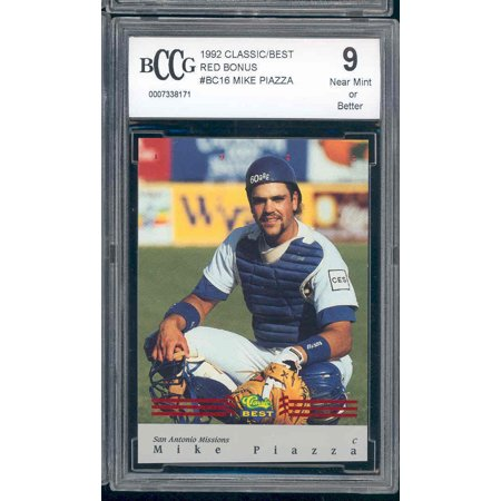 1992 classic/best red bonus #16 MIKE PIAZZA rookie BGS BCCG 9
