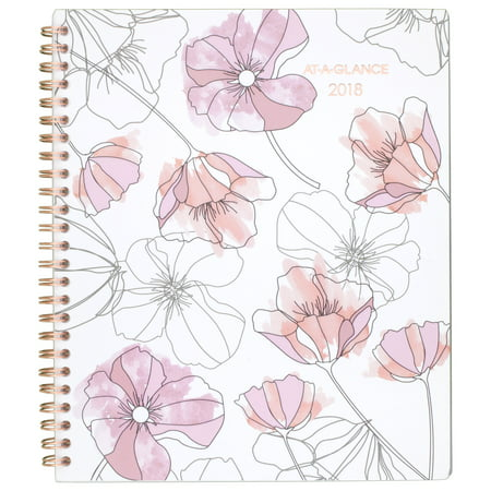 2018 AT-A-GLANCE Blush Weekly/Monthly Planner, 12 Months, January Start, 7 5/8