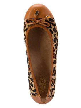 2f5e37cd40d Product Image Vionic by Orthaheel Spark Minna Tan Leopard Flat
