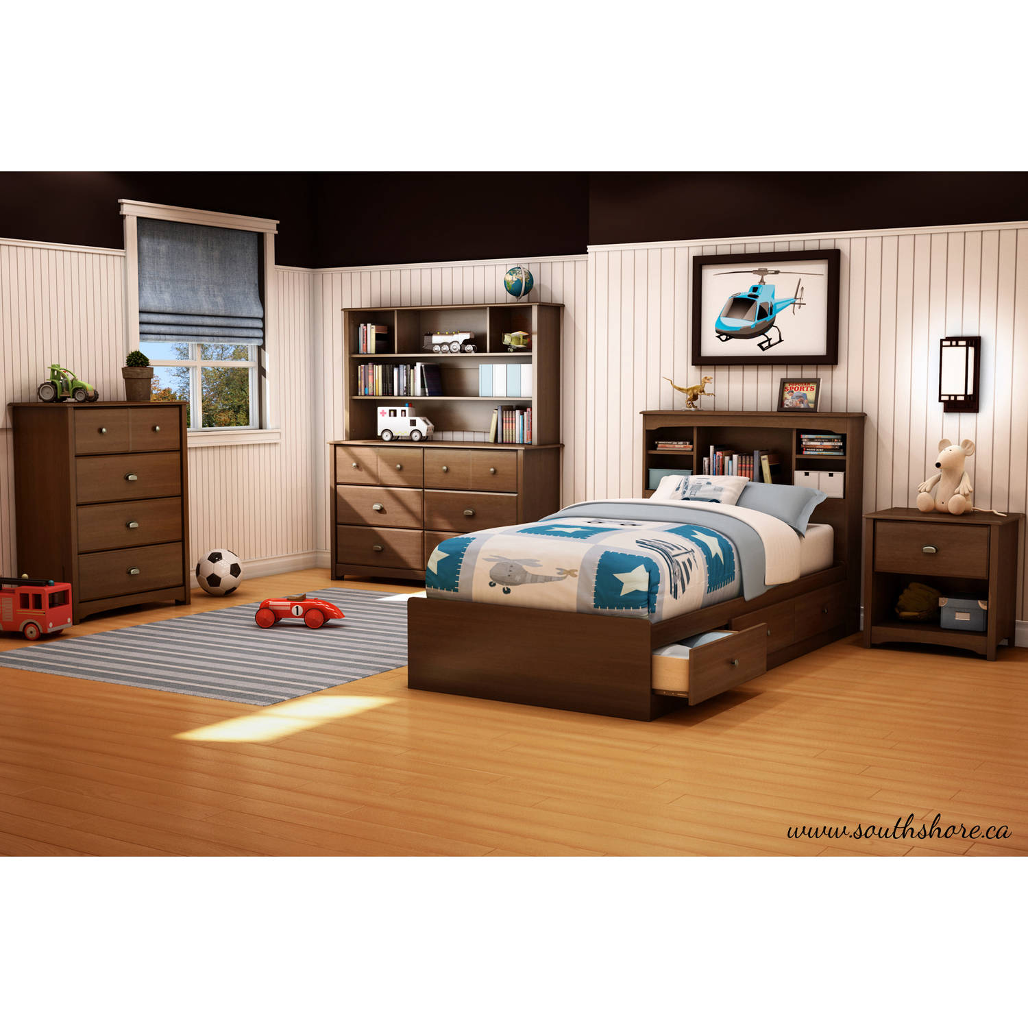 south shore furniture willow twin mates bed  walmartcom -