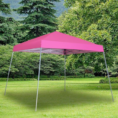 8 x 8 Ft Canopies 10x 10 Ft Base Slant Legs Pop up Canopy Tent for Camping Party(Pink) 10 Slant Leg Canopy