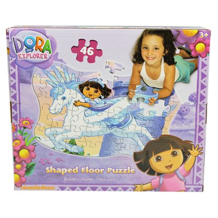 (Dora the Explorer Riding Pegasus Shaped Kids Floor Puzzle (46pc))