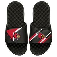 Louisville Cardinals ISlide Youth Varsity Starter Jacket Slide Sandals - Black
