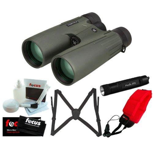 Vortex Optics Viper HD 15x50 Binocular + Fenix Compact Keychain LED Flashlight + Accessory Kit by Vortex Optics