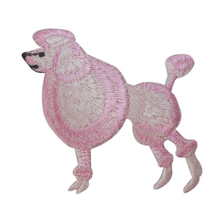 ID 2731 Pink Poodle Dog Patch Fancy Puppy Breed Embroidered Iron On - Poodle Skirt Applique