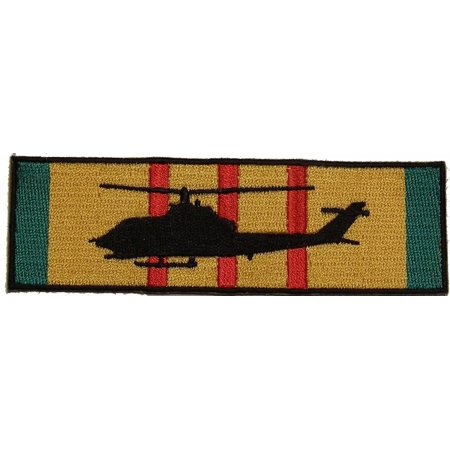AH-1 COBRA SILHOUETTE ON VIETNAM SERVICE RIBBON PATCH USMC US ARMY HELICOPTER