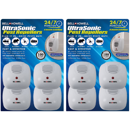 (2 pack) Bell & Howell 4-Pack Ultrasonic Pest (Sonic Pest Repeller)