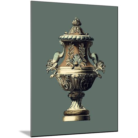 Classical Urn II Wood Mounted Print Wall Art By Vision
