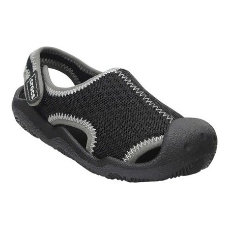 2373ad28a83af7 Crocs - Crocs Men s Swiftwater Sandal Black White Ankle-High Rubber - 11M -  Walmart.com