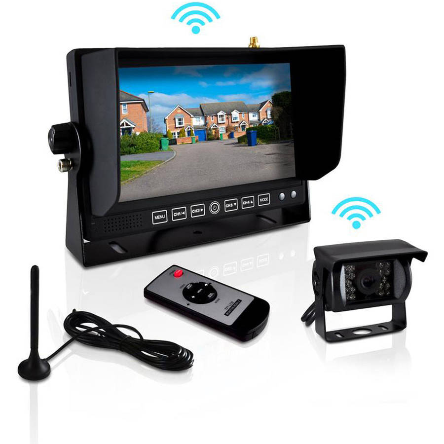 Pyle PLCMTR82WIR Commercial-Grade Wireless Weatherproof Backup Camera and Monitor Video System