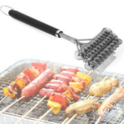 Cheers BBQ Grill Brush Barbecue Stainless Steel Bristle Long Handle Cleaning Scraper