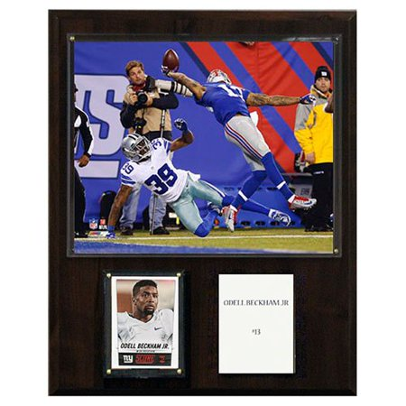 C Collectables Nfl 12X15 Odell Beckham Jr  New York Giants  The Catch  Player Plaque