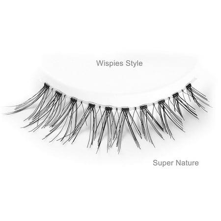 False Eyelash Kit with Clamp, 10 Lashes Fake Eyelashes, Soft Flexible False Eyelashes, Entire Eyelids for Ladies Women Natural Look (5 Pairs / Box) - image 4 of 8