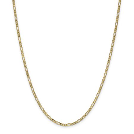 14k Yellow Gold 2.5mm Link Figaro Chain Necklace 18 Inch Pendant Charm For Women