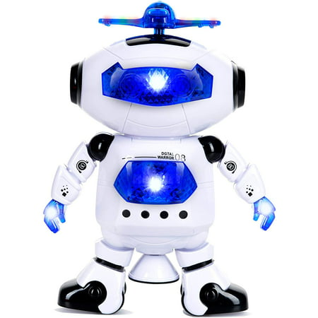 Awesome Halloween Parties (Dancing Robot Toy Plays Music, Walks, Spins, Dances And Emits Awesome Light & Sound, Great Gift For Party, Birthday, Christmas, Halloween, New)