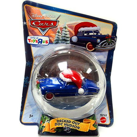Doc Hudson Accessories - Disney Cars Christmas Package Decked Out Doc Hudson Diecast Car [2010]