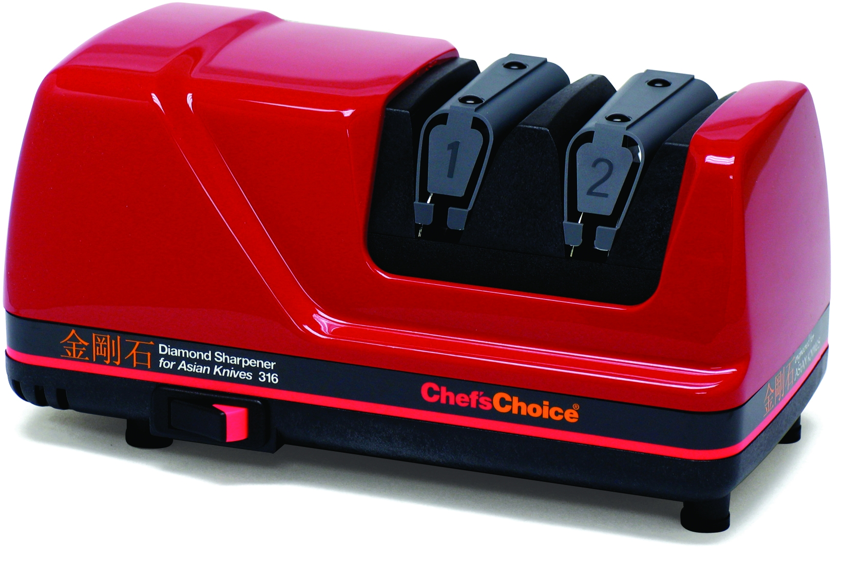 Chefs Choice 0316002 Diamond Sharpener for Asian Knives in Red by Edgecraft