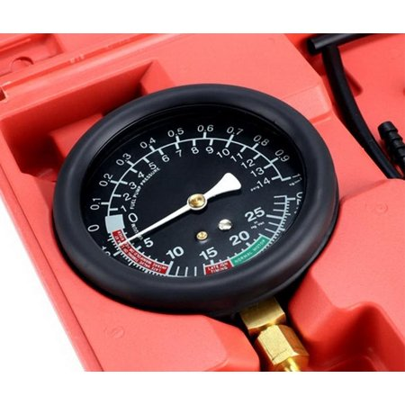 10Psi Fuel Pump Pressure   Vacuum Tester Gauge Test Kit Leo