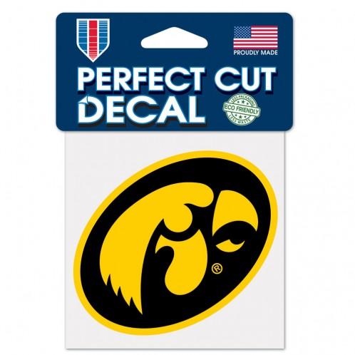 Iowa Hawkeyes Official NCAA 4 inch x 4 inch  Die Cut Car Decal by WinCraft